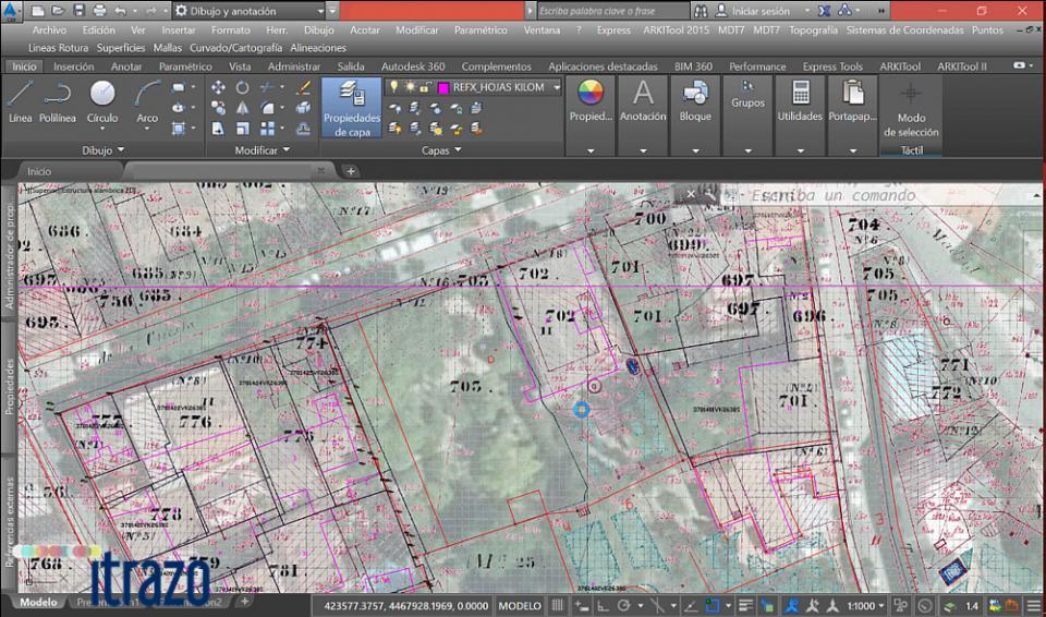 Vídeo del mes: Hacer trasparente una cartografía escaneada y georreferenciarla en AutoCAD. http://itrazo.com/recursos/vídeo-del-mes.html